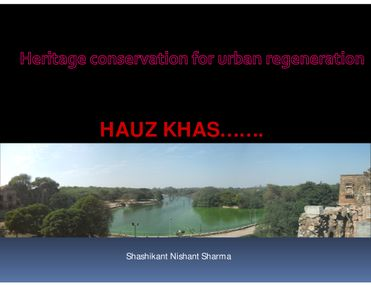 Urban Conservation for Urban Regeneration