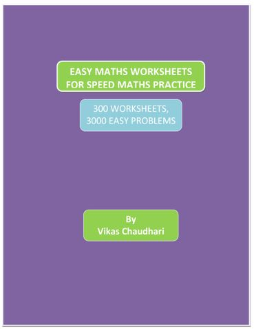 EASY MATHS WORKSHEETS