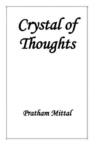 CRYSTAL OF THOUGHTS
