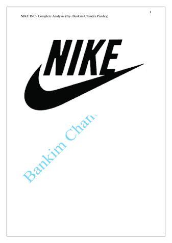 Nike Inc -Business Analysis