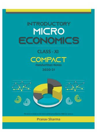 Introductory Microeconomics for Class XI: Compact Handwritten Notes( Sample Book)