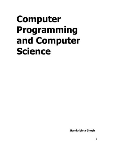 Computer Programming And Computer Science