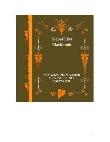 Siebel EIM Blackbook