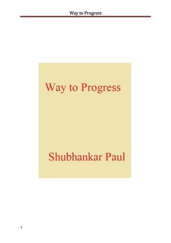 Way to Progress