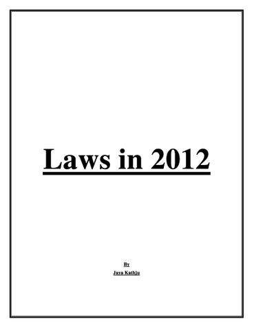 Laws in 2012