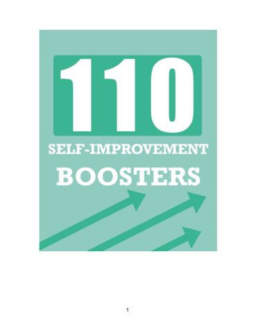 110 Self-Improvement Boosters.