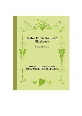 Siebel Public Sector 8.2 Blackbook