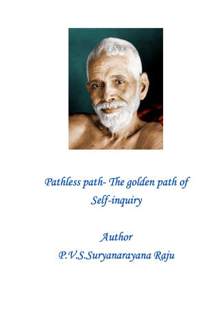 Pathless Path-The Golden Path of self-inquiry