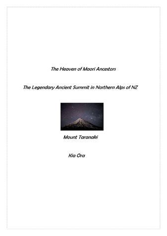 The Heaven Of Maori Ancestors- Mount Taranaki