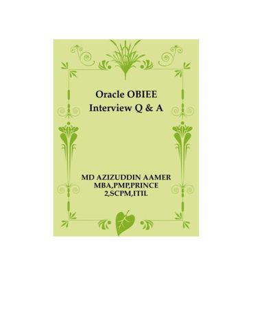 Oracle OBIEE Interview Q & A