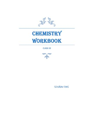 ICSE CHEMISTRY WORKBOOK FOR CLASS 10