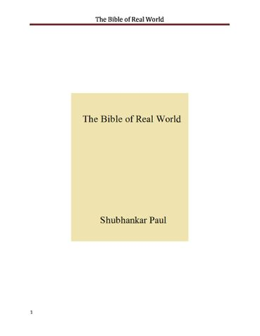 The Bible of Real World