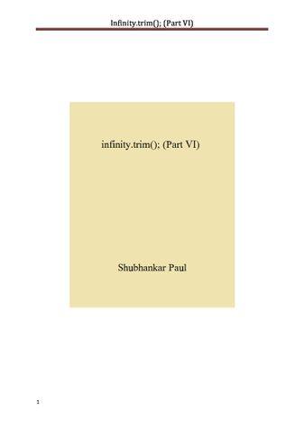 infinity.trim(); (Part VI)