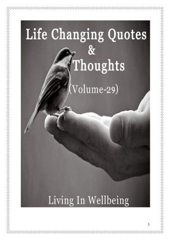 Life Changing Quotes & Thoughts (Volume 29)