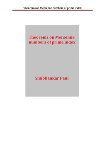 Theorems on Mersenne numbers of prime index