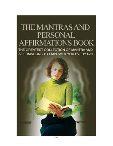 Mantras and Personal Affirmations Book