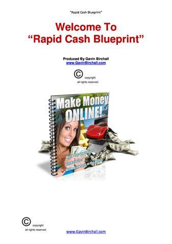 Rapid cash blueprint