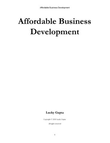 Affordable Business Development