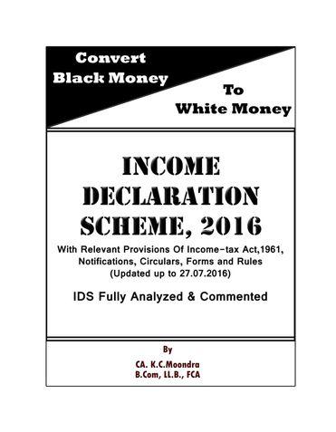 Income Declaration Scheme, 2016