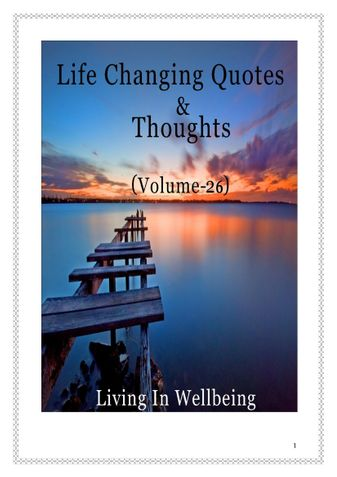Life Changing Quotes & Thoughts (Volume 26)
