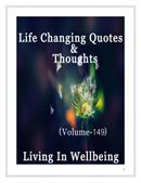 Life Changing Quotes & Thoughts (Volume 149)