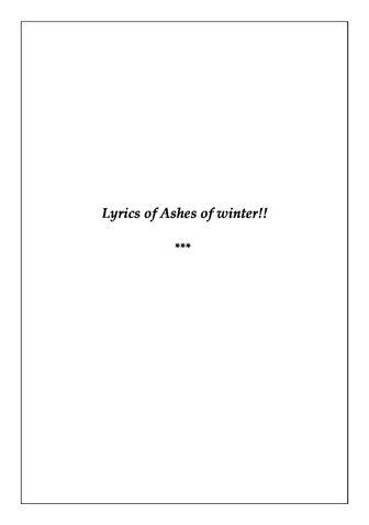Lyrics of Ashes of Winter