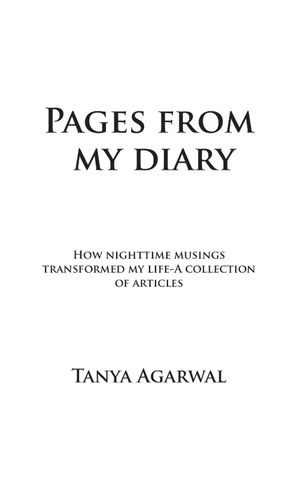 Pages from my diary