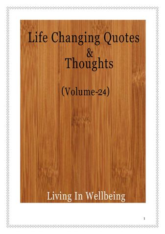 Life Changing Quotes & Thoughts (Volume 24)