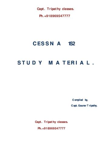 CESSNA 152 Study Material
