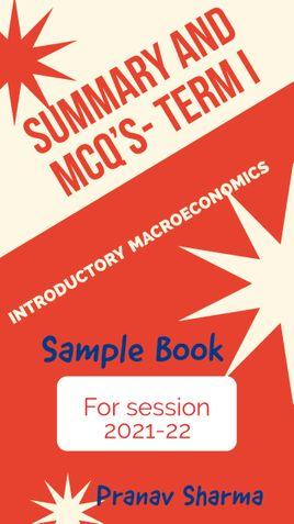 Macroeconomics- MCQ's for session 2021-22( Sample)