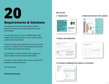 20 Requirements & Solutions