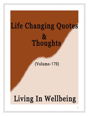 Life Changing Quotes & Thoughts (Volume 179)