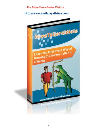 Grow Taller 4 Idiots Review PDF eBook Book Free Download