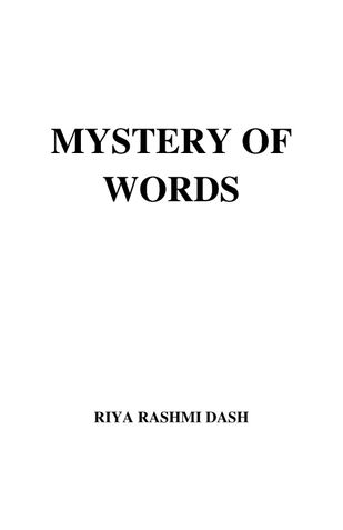 MYSTERY OF WORDS