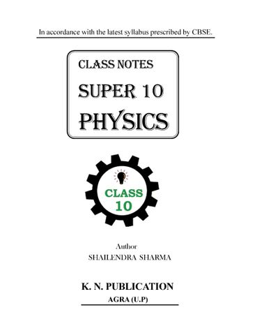 SUPER 10 PHYSICS