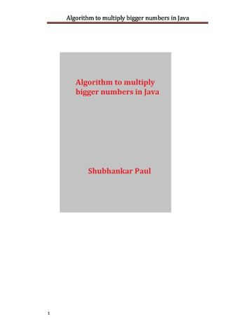 Algorithm to multiply bigger numbers in Java