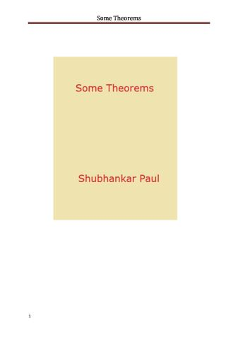 Some Theorems