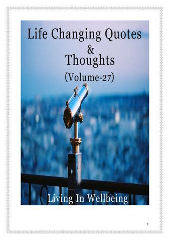 Life Changing Quotes & Thoughts (Volume 27)