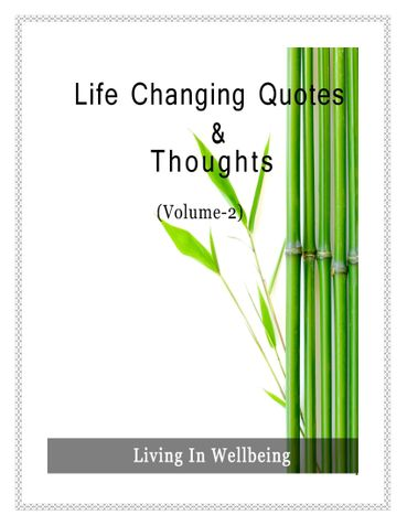 Life Changing Quotes & Thoughts (Volume 2)