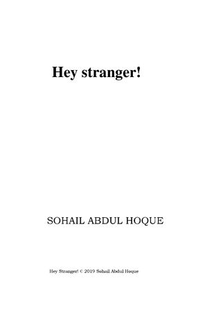 Hey Stranger!