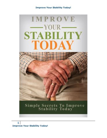 Improve Your Stability Today