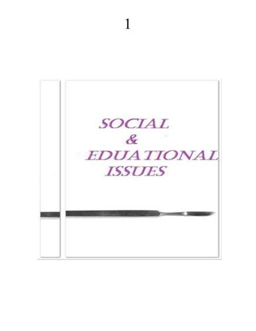Social And Educational Issues
