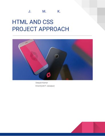 HTML CSS For Project Approach