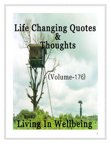 Life Changing Quotes & Thoughts (Volume 176)