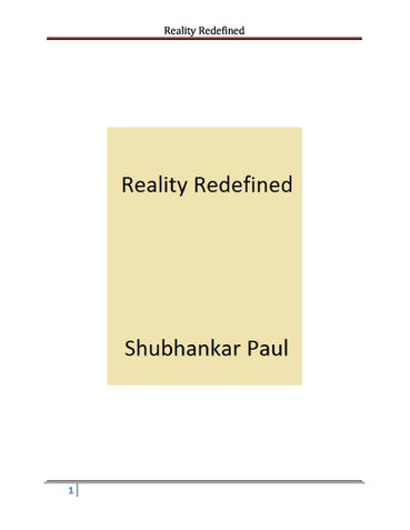 Reality Redefined
