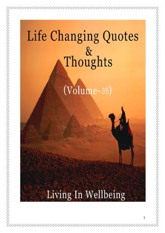 Life Changing Quotes & Thoughts (Volume 35)
