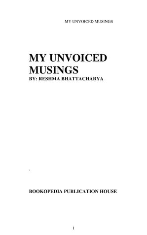 MY UNVOICED MUSINGS
