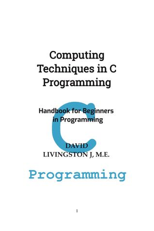 Computing Techniques in C Programming