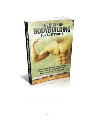 The bible of bodybuilding for busy person