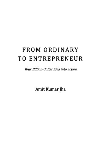 From Ordinary to Entrepreneur